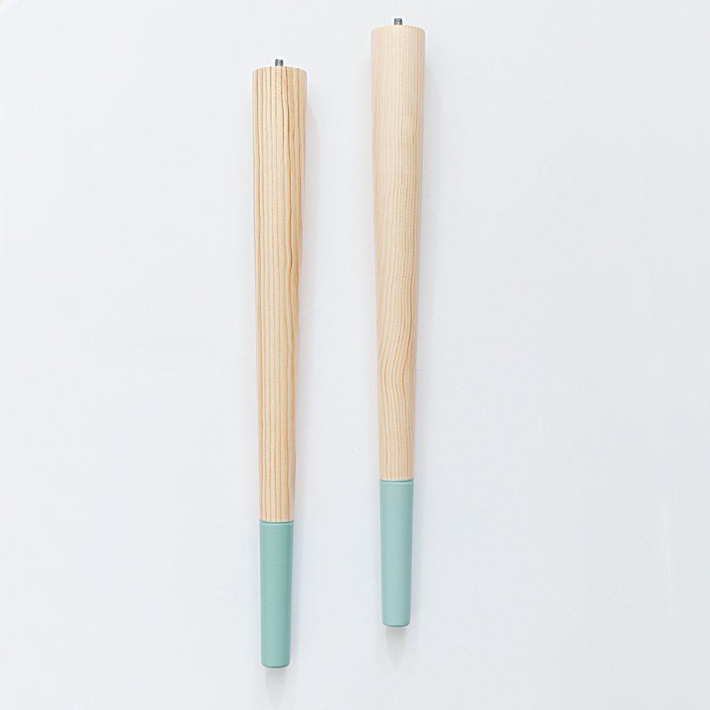 Socks azul 500 pata de madera para muebles mesas o tableros ohmyleg patas de madera para - Patas para muebles de madera ...