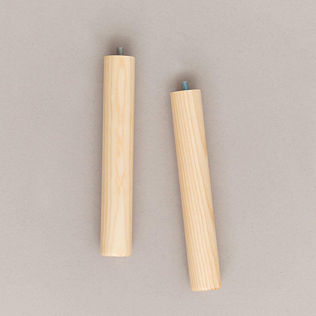Moneo madera natural 20cm patas de madera para muebles mesas y tablero ohmyleg patas de - Patas para muebles de madera ...